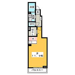 タウン宮東[1階]の間取り
