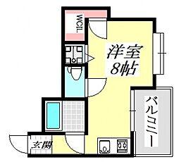 グランドハイツ正覚寺[5O5号室号室]の間取り