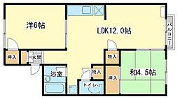 親和ハイツ2号[2階]の間取り