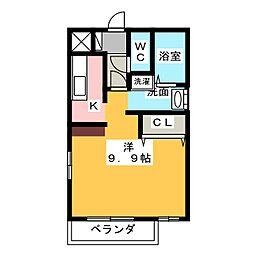 メゾンマジョラムB[2階]の間取り