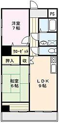 MONA-A 5階2LDKの間取り