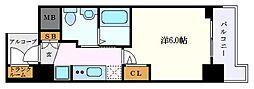 名古屋市営東山線 新栄町駅 徒歩11分の賃貸マンション 6階1Kの間取り