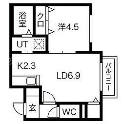 Grandee二十四軒[3階]の間取り