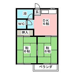 ファミールKITO[1階]の間取り