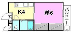 AQUAMARINE UM (アクアマリン ウン)[201 号室号室]の間取り