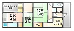 [テラスハウス] 兵庫県尼崎市潮江3丁目 の賃貸【/】の間取り