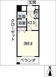 カーサビアンカ東岡崎[2階]の間取り