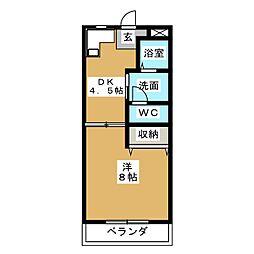 パインコーポ弐番館[3階]の間取り