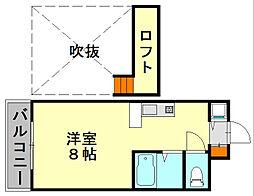 JGM福大前[3階]の間取り