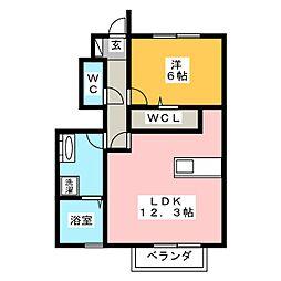 ポルトボヌールC[1階]の間取り