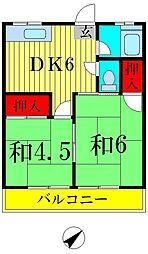 長谷川コーポ[101号室]の間取り