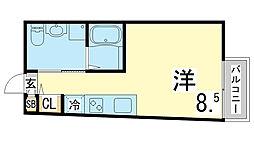 JR東海道・山陽本線 須磨駅 徒歩5分の賃貸アパート 1階1Kの間取り