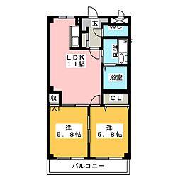 アイダイトクI[1階]の間取り