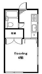 東京都世田谷区玉堤2丁目の賃貸アパートの間取り