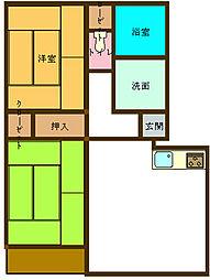 広島県呉市広大新開2丁目の賃貸マンションの間取り