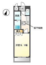 愛知県稲沢市下津穂所1丁目の賃貸アパートの間取り