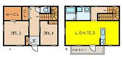 [タウンハウス] 埼玉県さいたま市浦和区元町1丁目 の賃貸【埼玉県 / さいたま市浦和区】の間取り