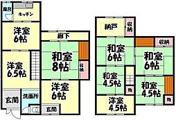 [テラスハウス] 大阪府堺市西区浜寺石津町中2丁 の賃貸【/】の間取り