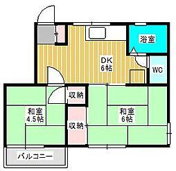 コーポベラーム[3階]の間取り