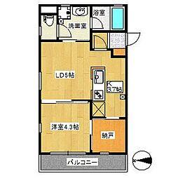 コンフォートシティ[4階]の間取り