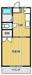 サニーハイツE&M[202号室]の間取り