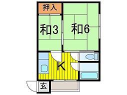 本田マンション1号棟[107号室]の間取り