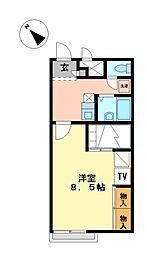 兵庫県相生市古池本町の賃貸アパートの間取り