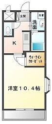 香川県高松市鬼無町藤井の賃貸アパートの間取り