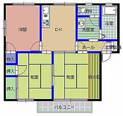 グリーンフォーレ B棟[1階]の間取り