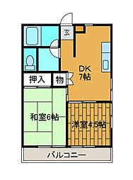 ロイヤルハウス2[3階]の間取り