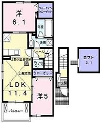 サンエアリーハウス[2階]の間取り