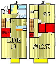 [テラスハウス] 千葉県習志野市鷺沼台3丁目 の賃貸【/】の間取り