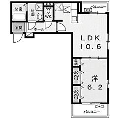 神奈川県相模原市南区相模台4丁目の賃貸アパートの間取り