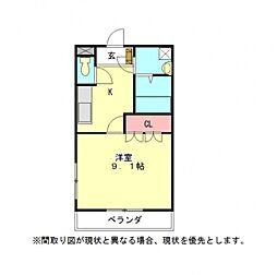 愛知県小牧市大字西之島の賃貸アパートの間取り
