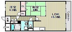 ハイネスAONO[502号室]の間取り