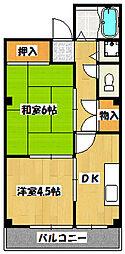 兵庫県神戸市兵庫区湊川町5丁目の賃貸マンションの間取り