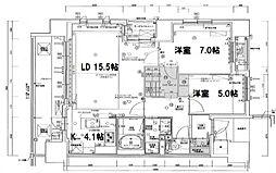 プレミスト江戸堀[12階]の間取り