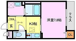 大阪府堺市西区鳳東町1丁の賃貸マンションの間取り