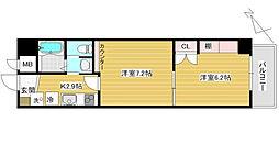 東京都荒川区町屋3丁目の賃貸マンションの間取り