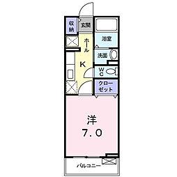 グランドライフA[2階]の間取り