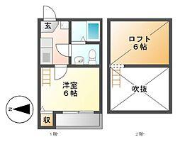リバティ豊田本町[2階]の間取り