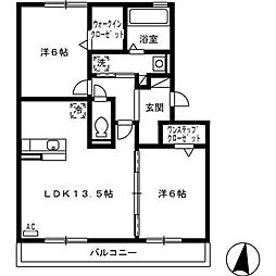 カルチェ Asuka[305号室]の間取り