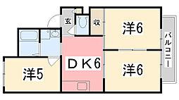 兵庫県明石市大久保町大久保町の賃貸アパートの間取り
