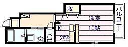 カンフォート・アイ[1階]の間取り