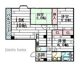 サンハイム紫明園[2階]の間取り