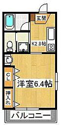 千葉県船橋市海神6の賃貸マンションの間取り