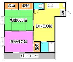 ロイヤルコトブキ[2階]の間取り