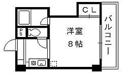 滋賀県大津市藤尾奥町の賃貸マンションの間取り