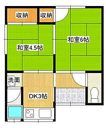 [テラスハウス] 兵庫県伊丹市岩屋1丁目 の賃貸【兵庫県 / 伊丹市】の間取り