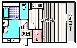 カリーノRポルト[2階]の間取り